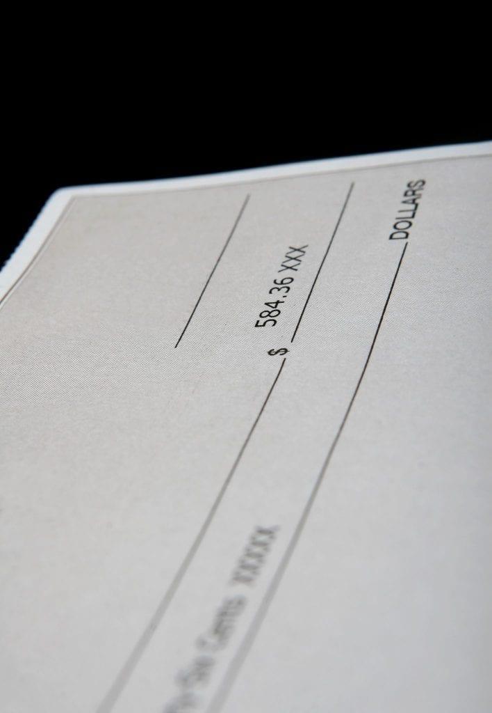 cheque devolvido