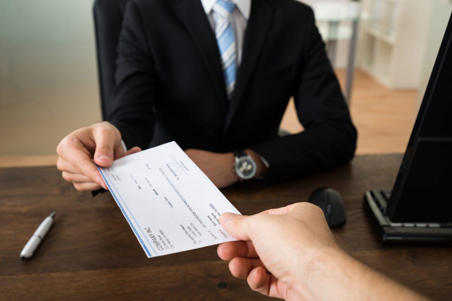cheque visado
