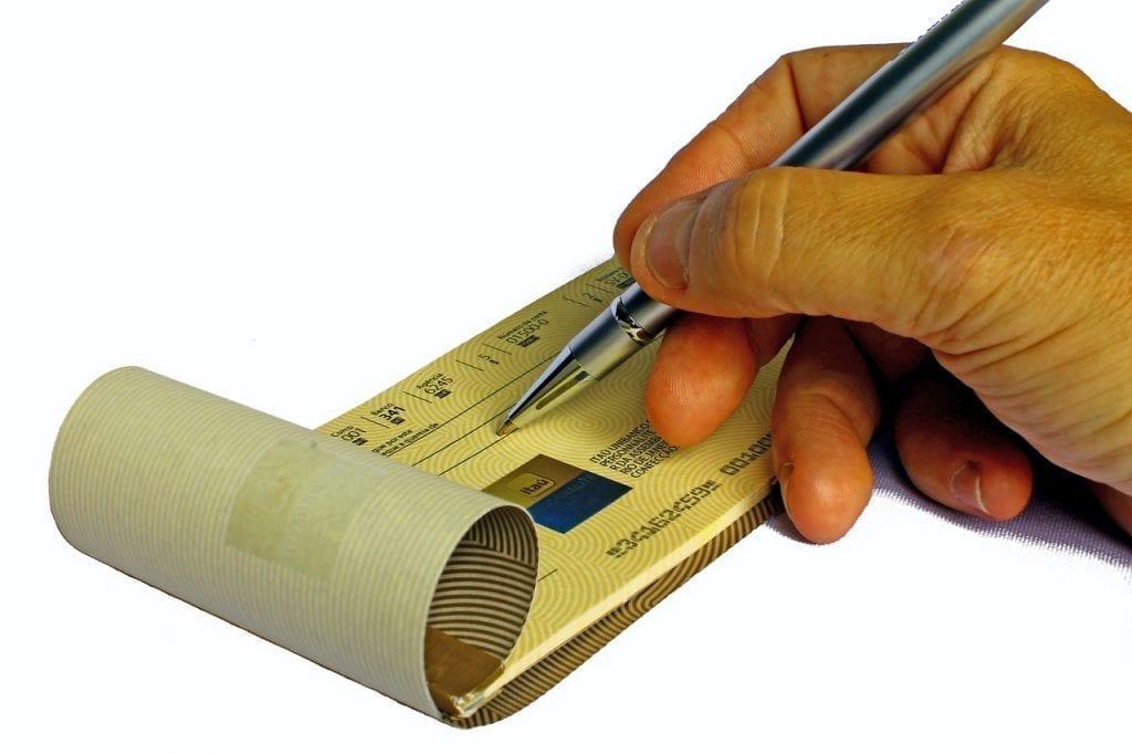 como preencher cheque 1