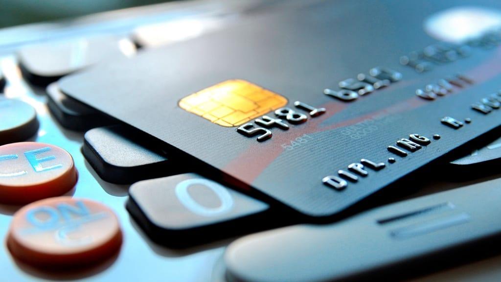 cartão de credito e calculadora